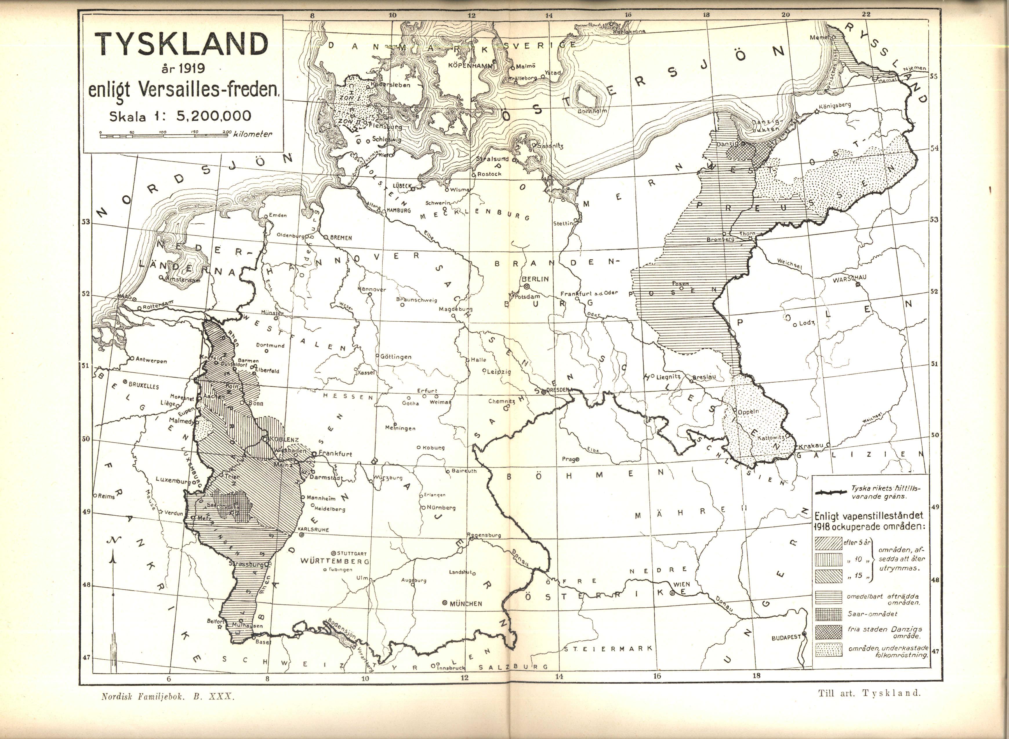 File Karta Over Tyskland Ar 1919 Enligt Versaillesfreden Ur