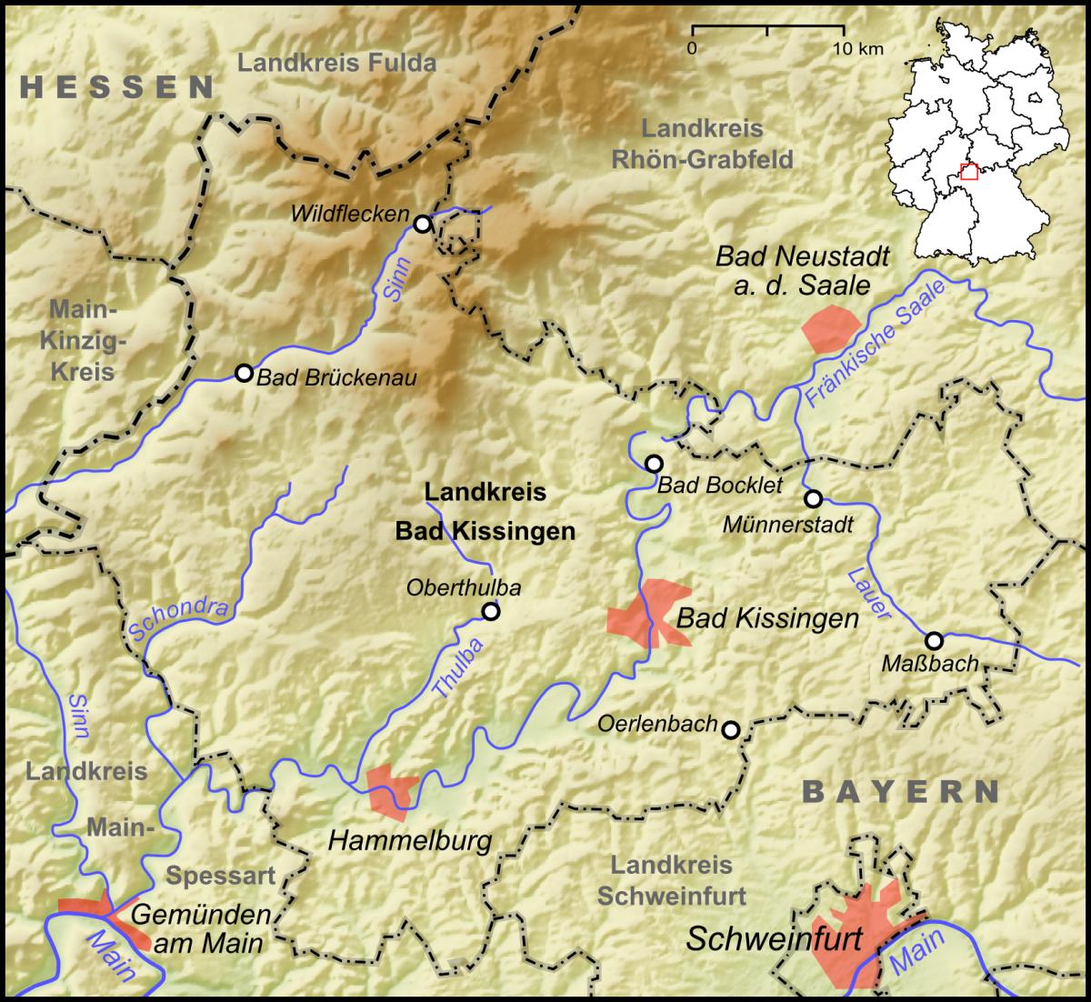 File:Karte Landkreis Bad Kissingen.png - Wikimedia Commons