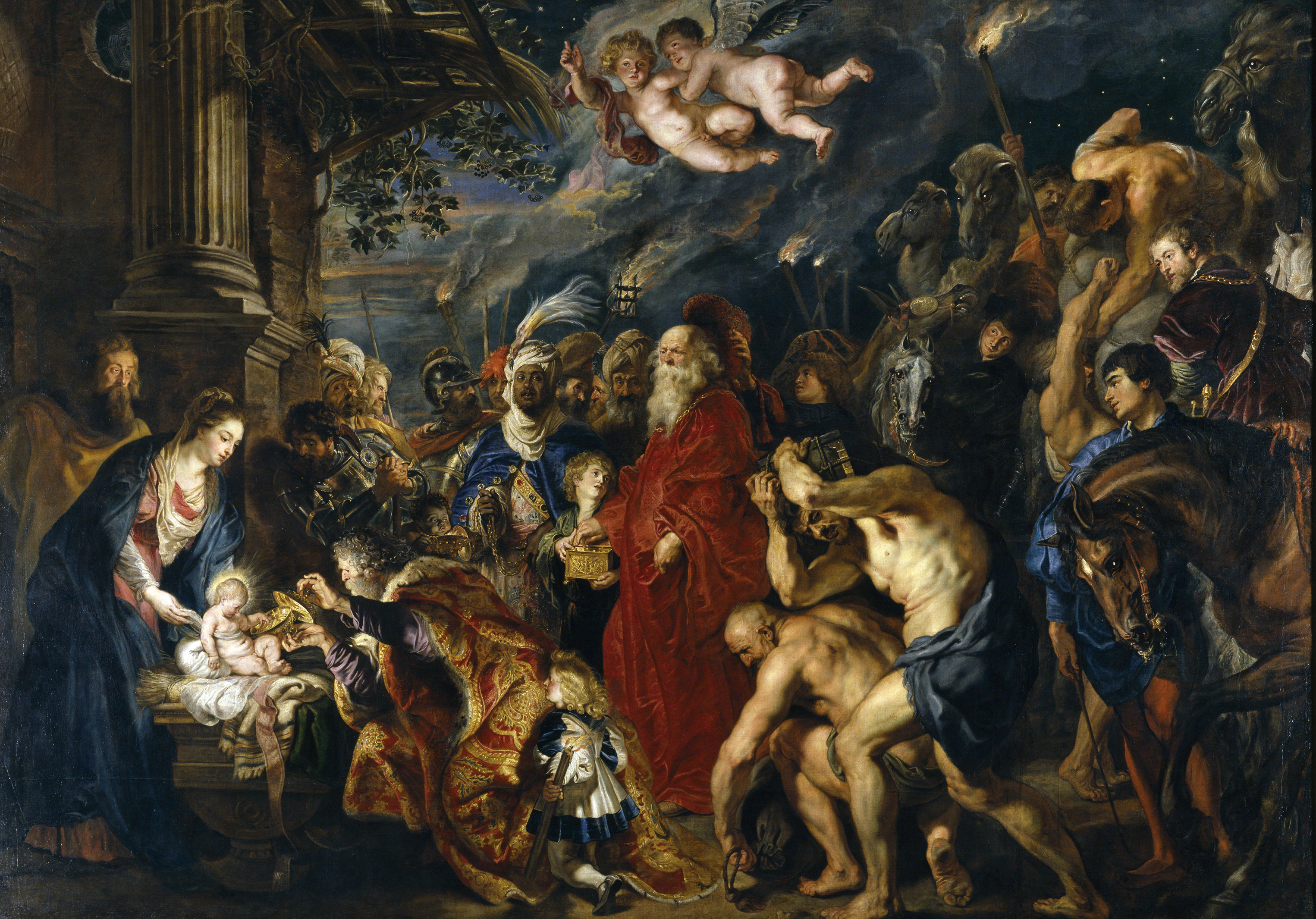 Image result for peter paul rubens adoration of the magi