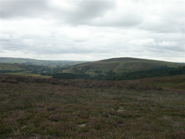 Lantern Pike from Middle Moor - geograph.org.uk - 221324