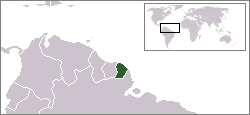 Location of French Guiana