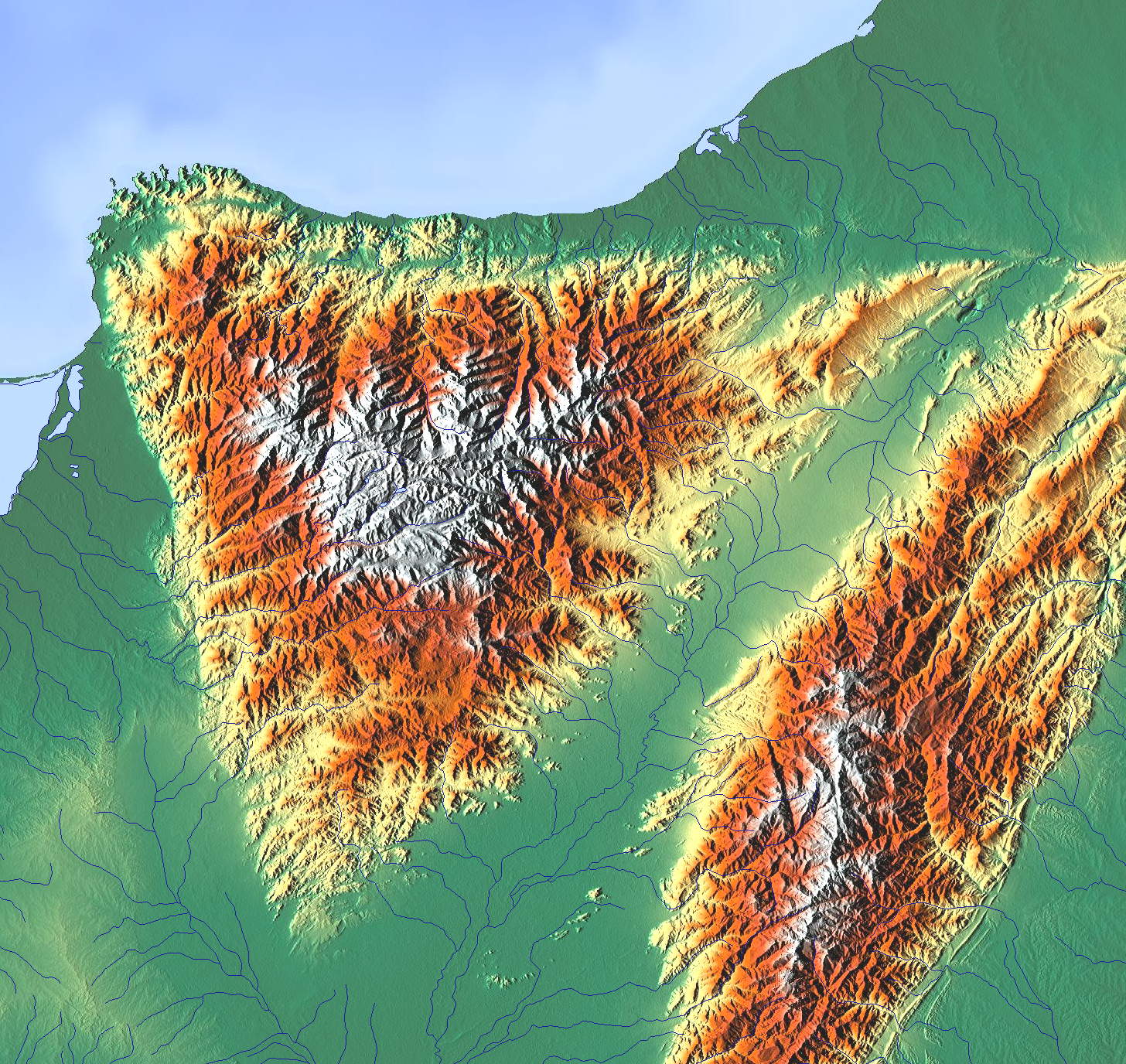 FileMap Of Sierra Nevada De Santa Martapng  Wikimedia