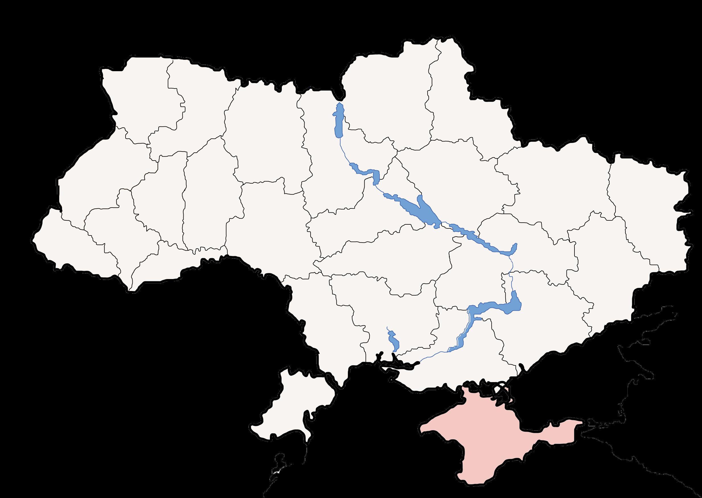 FileMap Of Ukraine Political Simple Oblast Krimpng Wikimedia - Ukraine political map