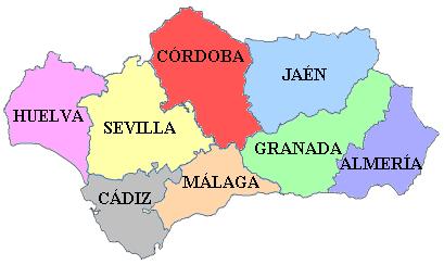 アンダルシア州の県