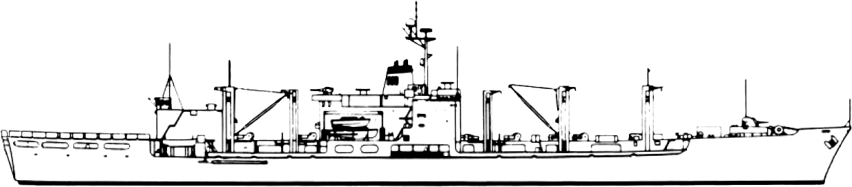 Lines Drawing Naval Architecture : File mars class combat stores ship line drawing