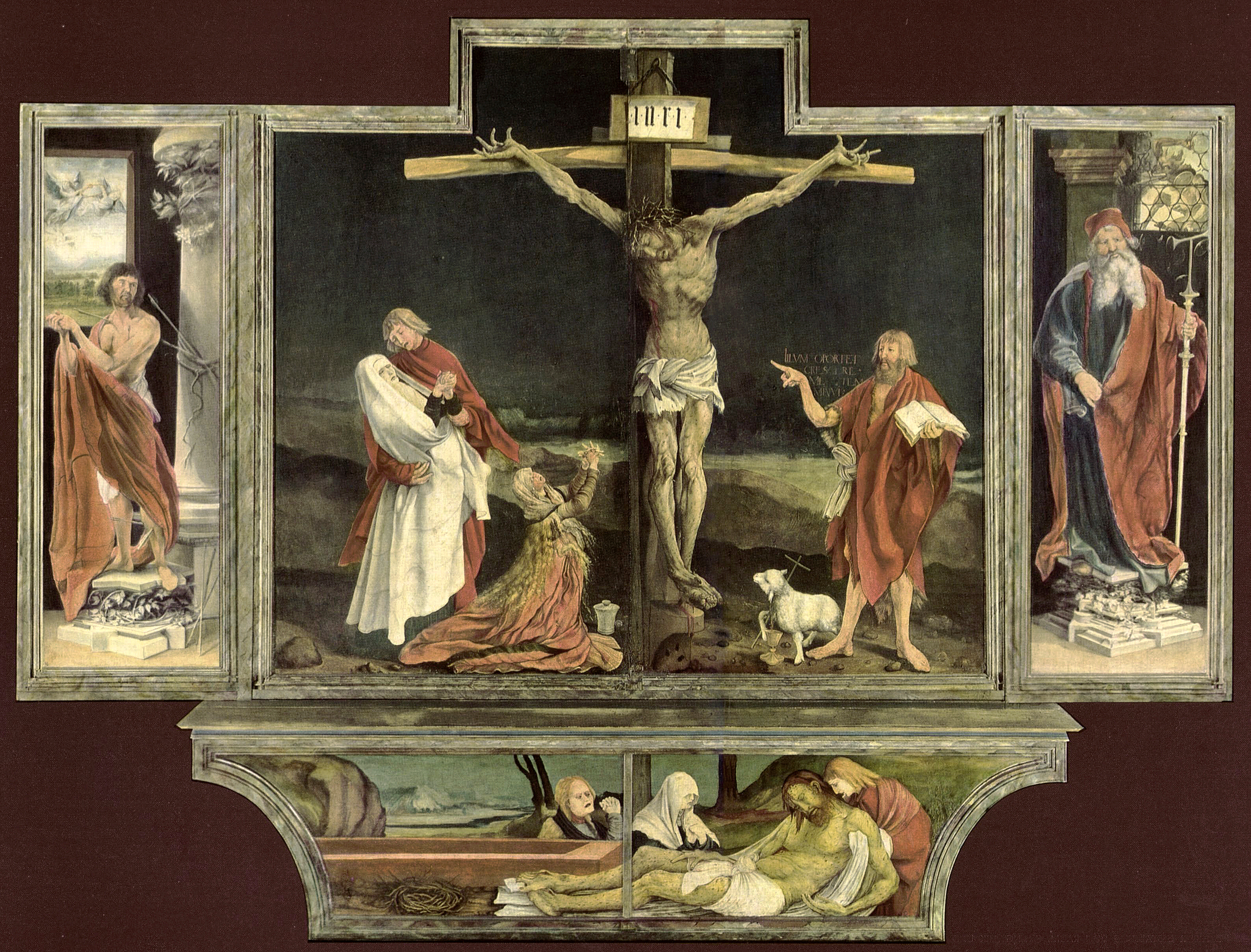 Death as confrontational and embracing in symbolism herbert r walds crucifixion from the isenheim altarpiece is biocorpaavc Image collections