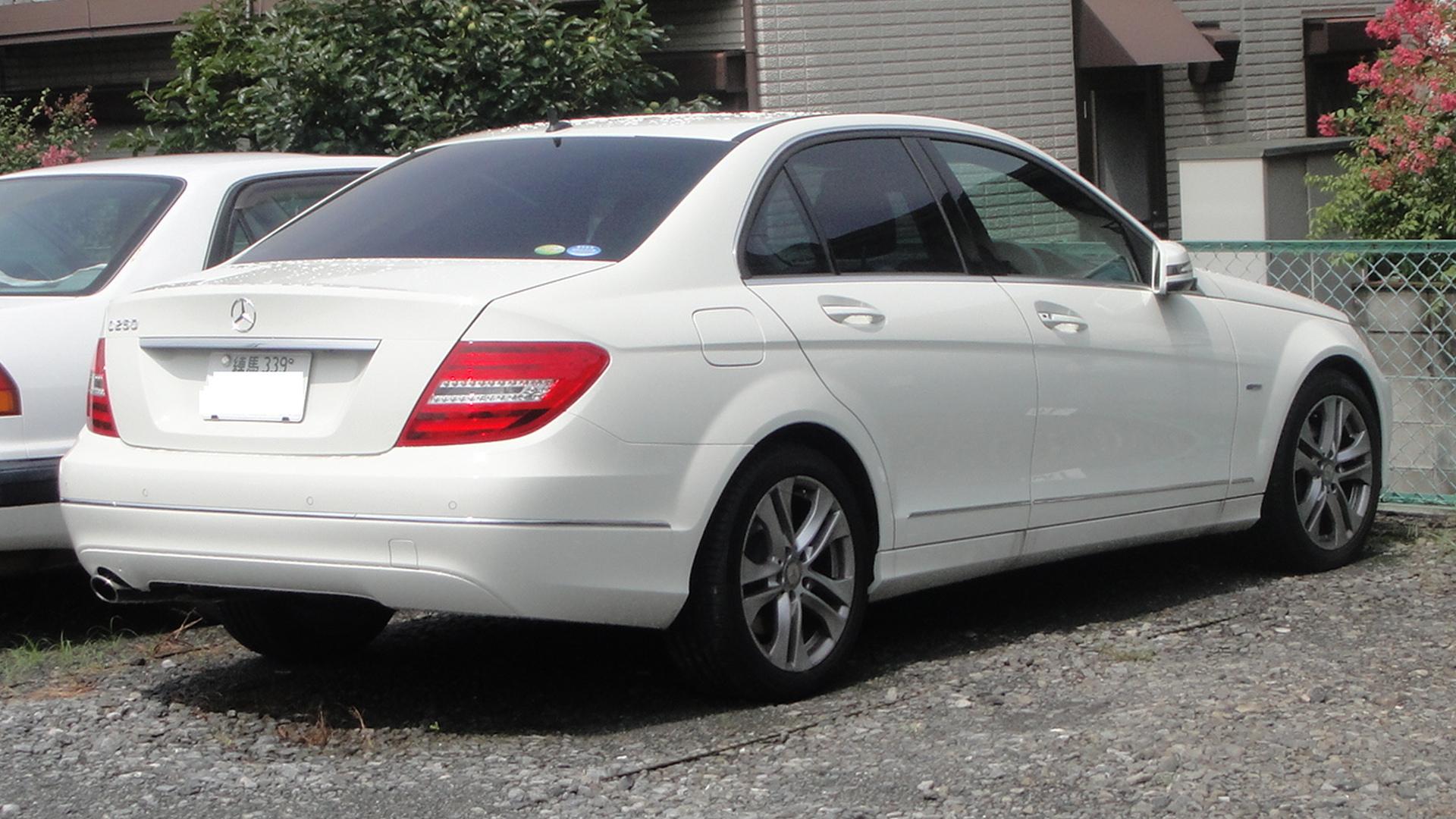 File mercedes benz w204 c250 rear tx wikimedia for Mercedes benz of texas