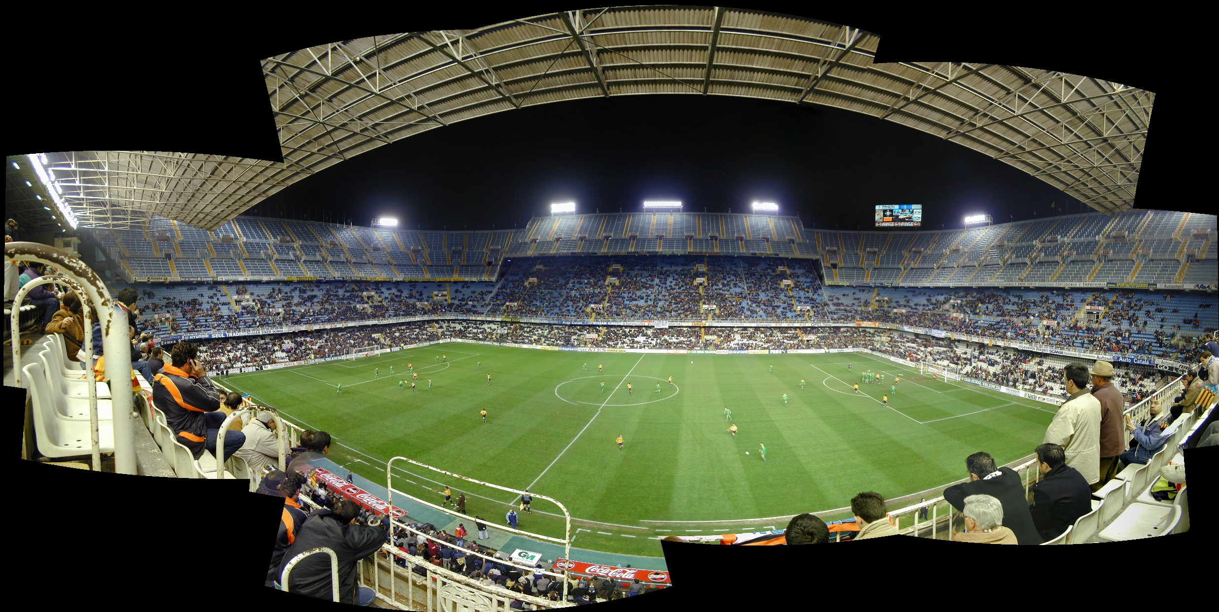 Panoramic view of inside Mestalla