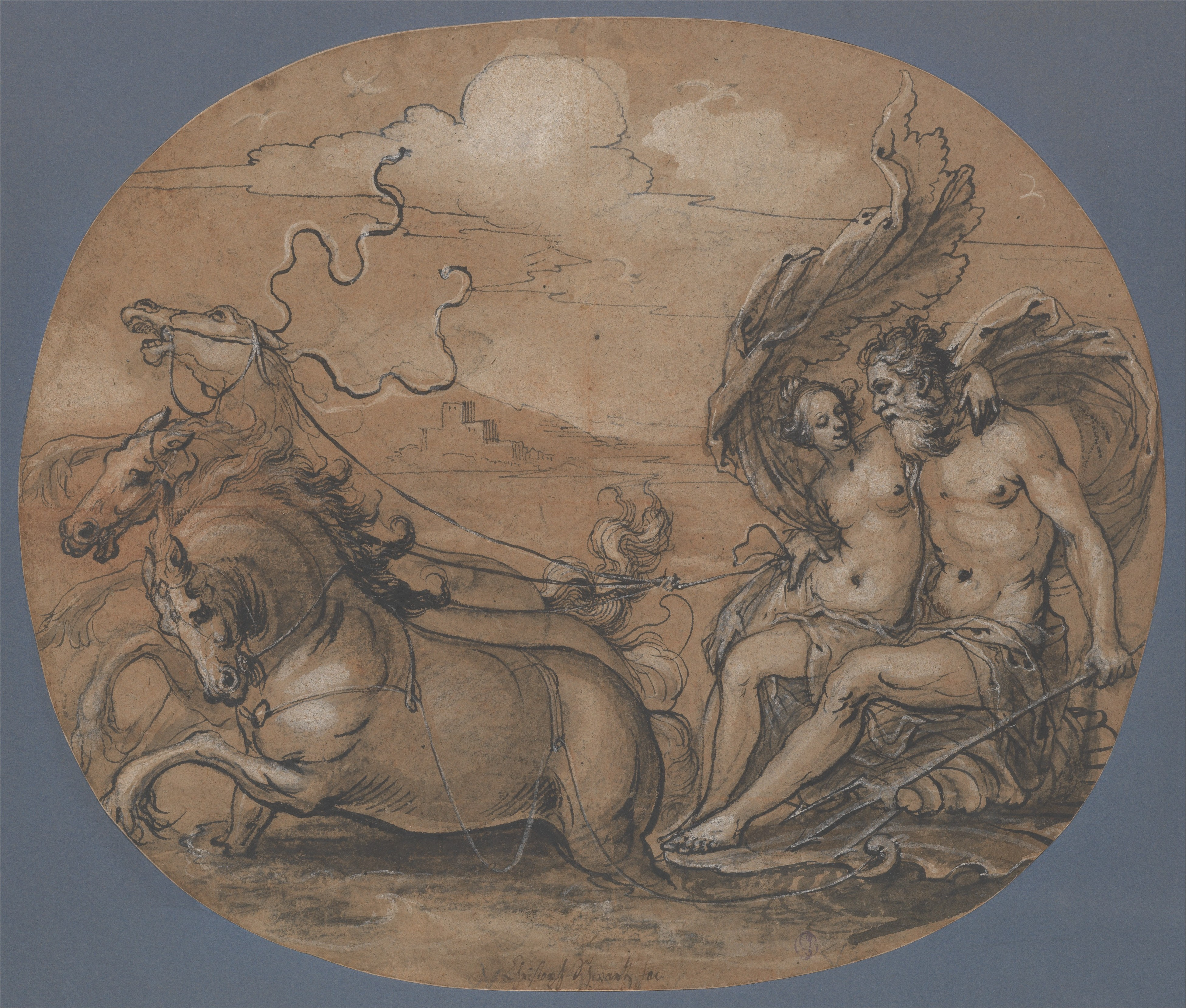 An image of Neptune and Amphitrite.