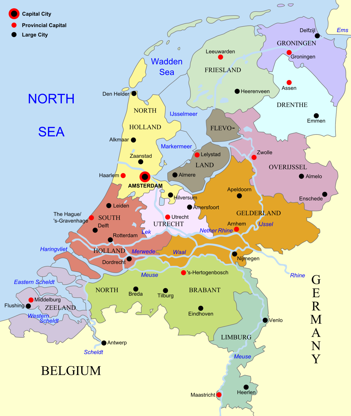 Tan  m Netherlands map large pngNetherlands Map Europe