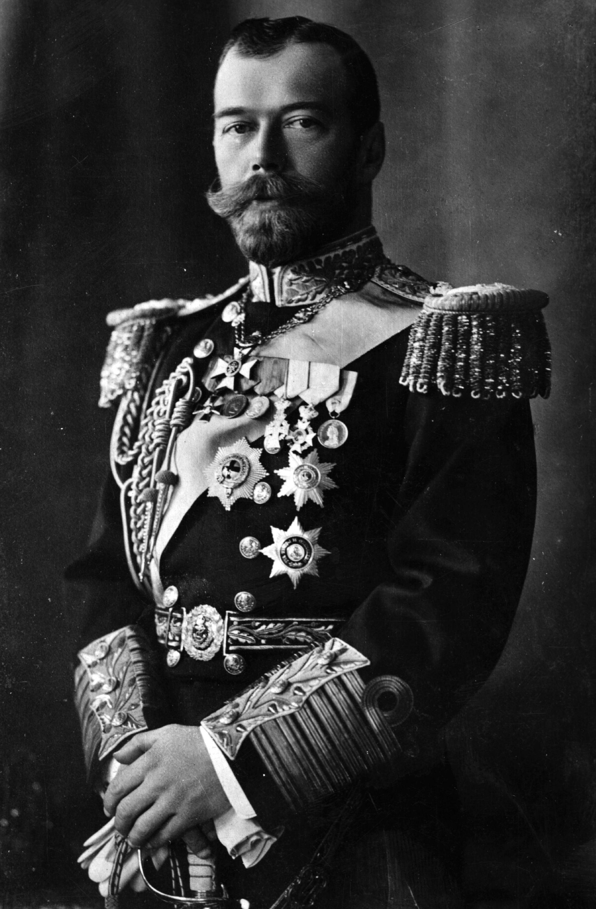 El Zar Nicolás II en 1909.