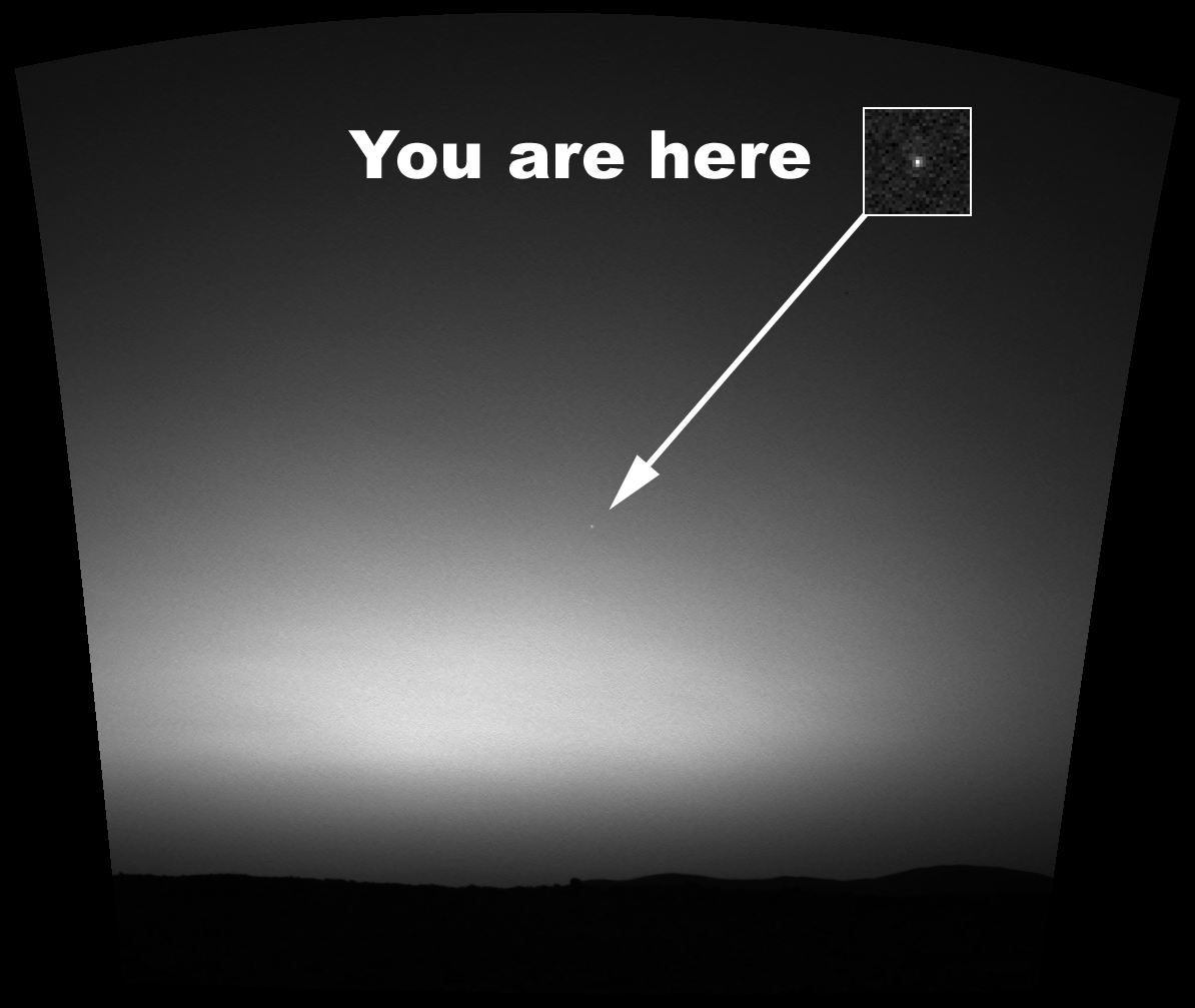 Earth Seen From Mars Rover - Pics about space