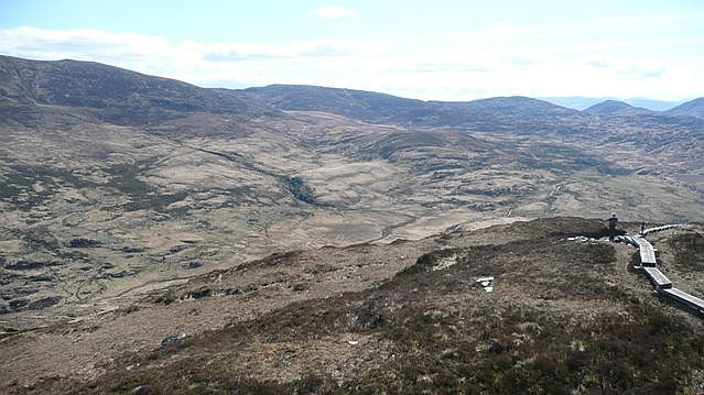 Panorama from Torc Mountain (6) - geograph.org.uk - 777040