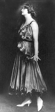 1917 evening dress. Image via Wikipedia.