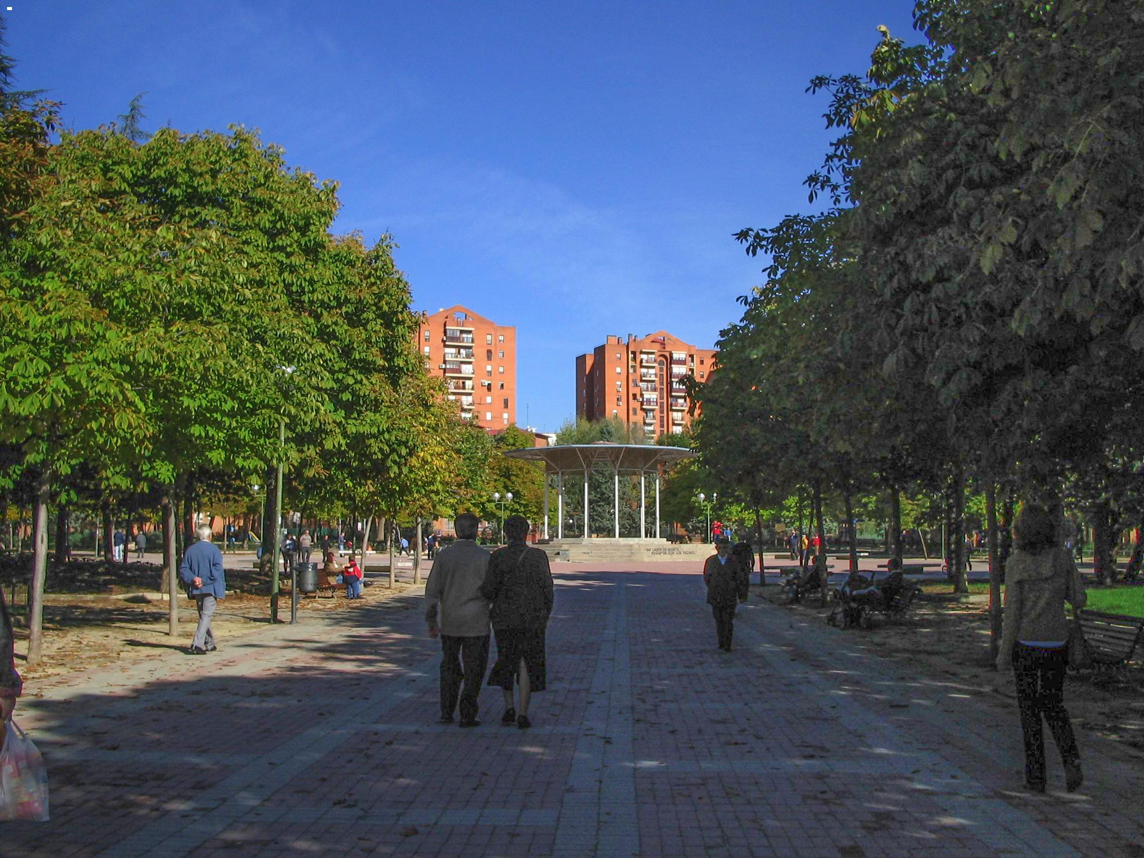 File Paseo Principal Del Parque De La Ciudad De Los Angeles Madrid