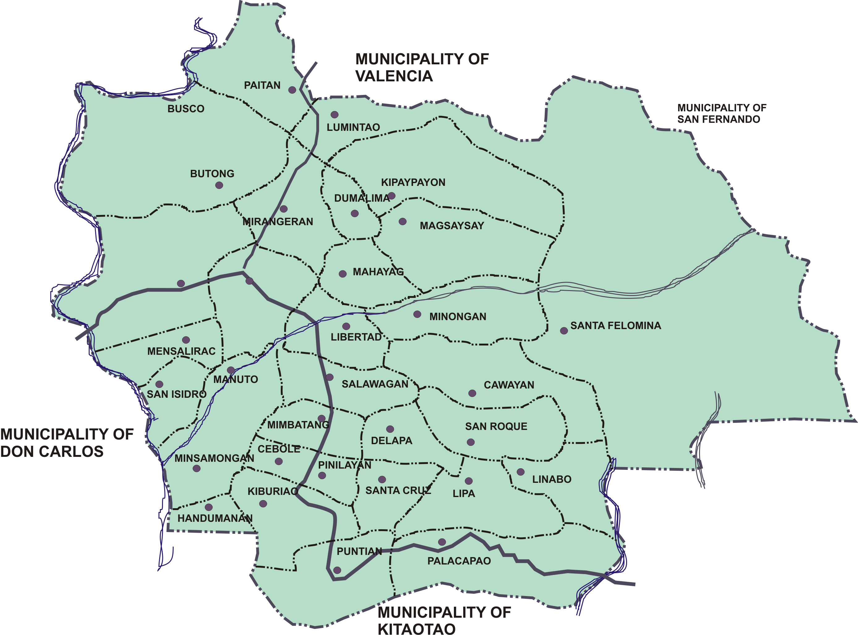 File Ph Bukidnon Quezon Political Map Png Wikimedia Commons