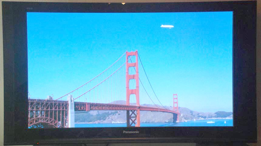 16:9 content on 16:9 TV