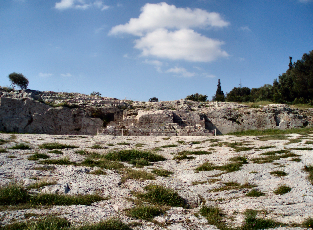 Pnyx Hill, Athens where the Athenian Assembly met to enact legislation