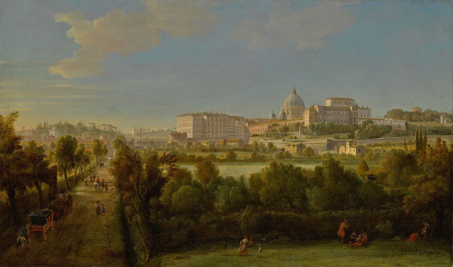 ROME, A VIEW OF SAINT PETER'S BASILICA AND THE VATICAN… by Gaspar van Wittel.jpg