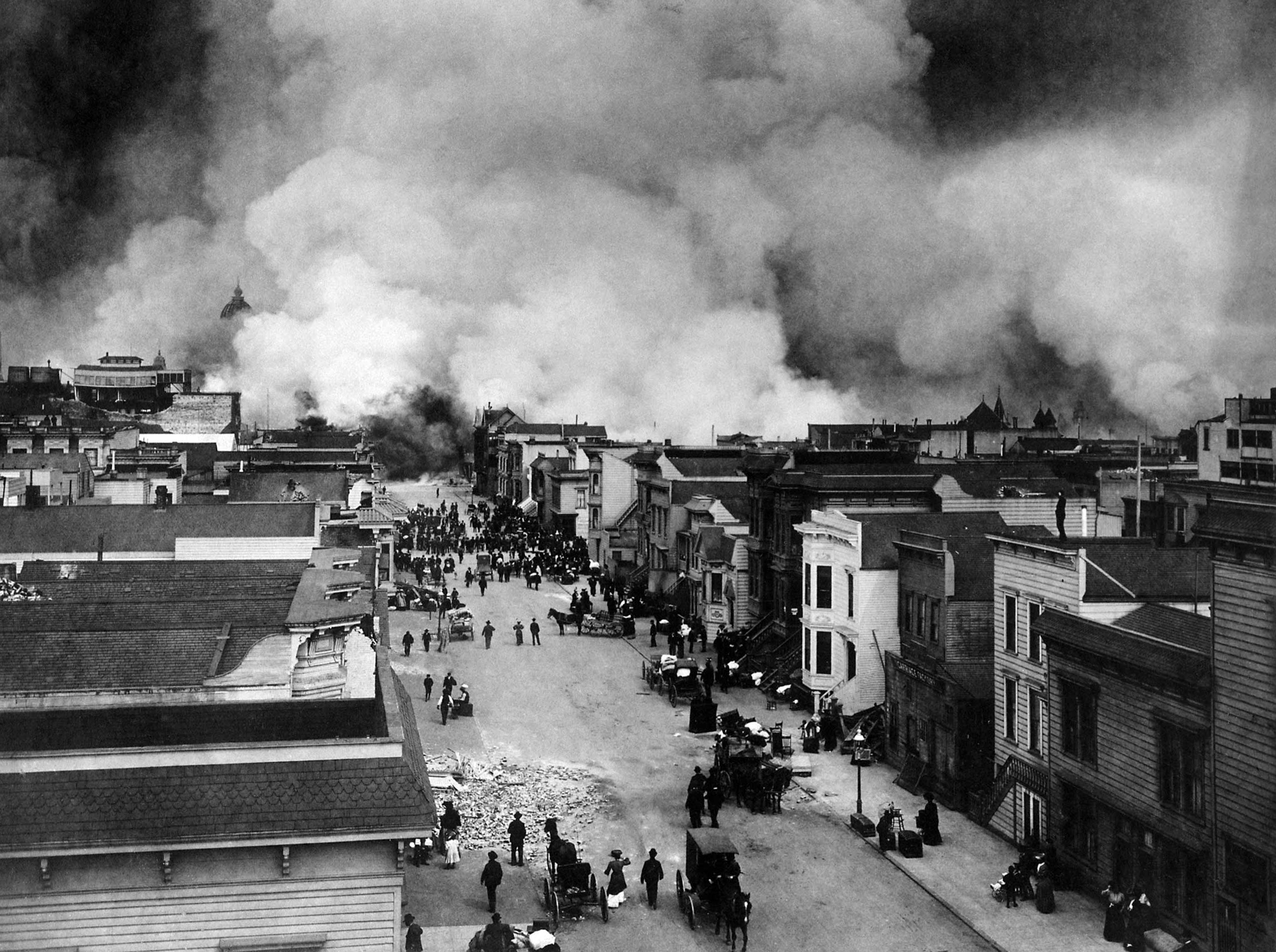 Burning of San Francisco, Mission District (1906)