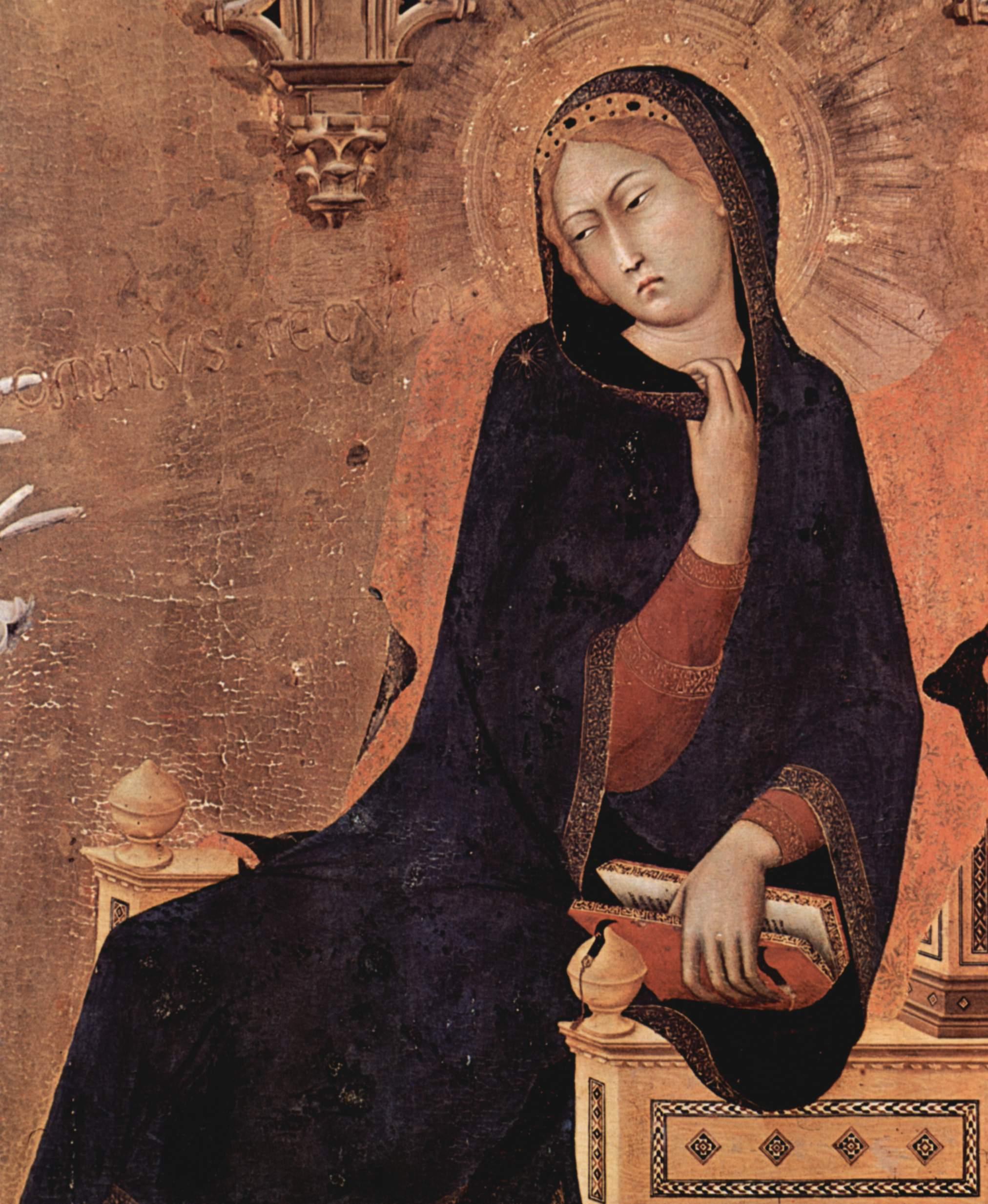 SIMONE MARTINI  Annunciation (detail) 1333