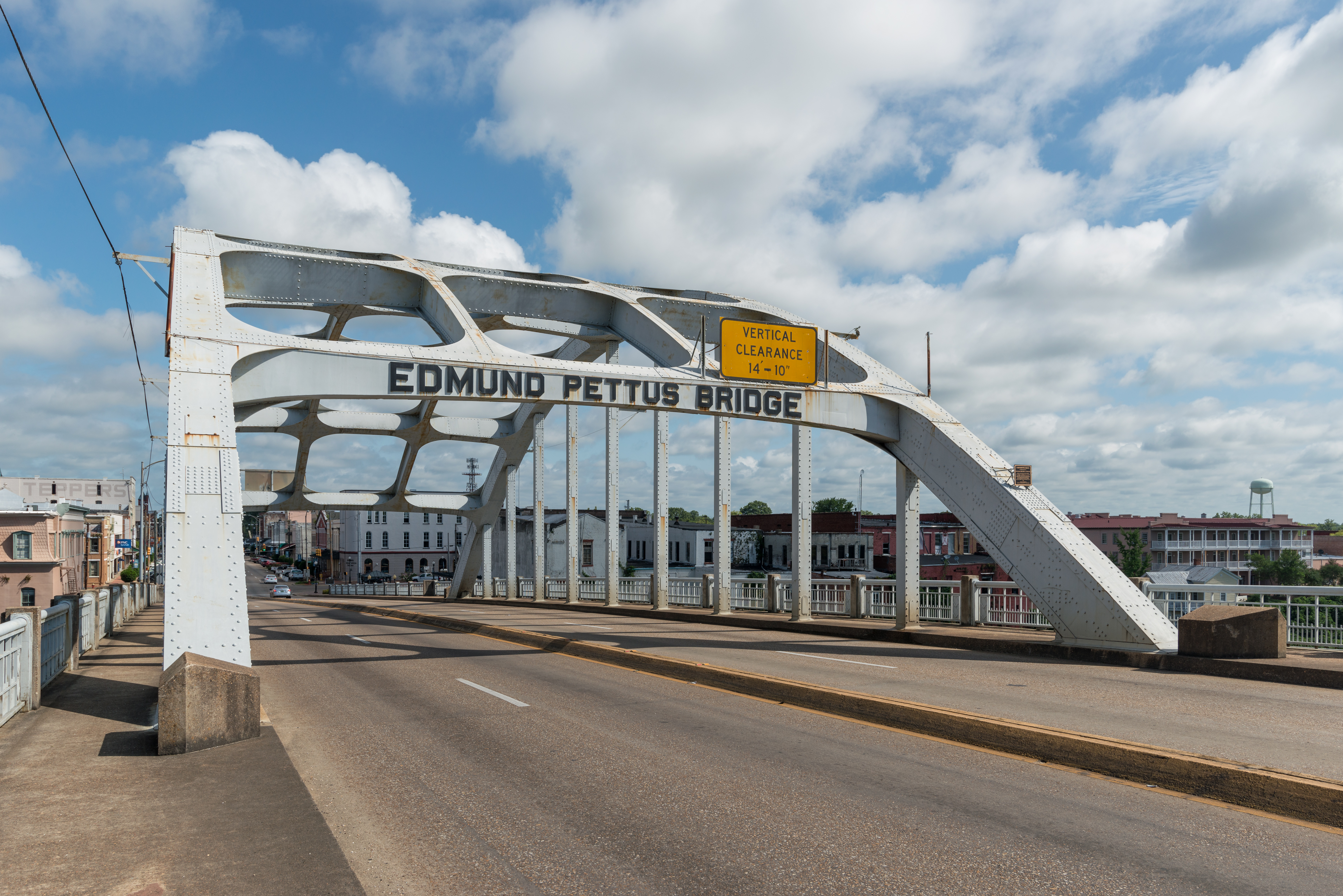 South view of Arch of Edmund Pettus Bridge Selma AL 1