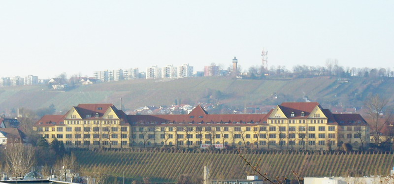The former Wallace Barracks viewed from across the Neckar River