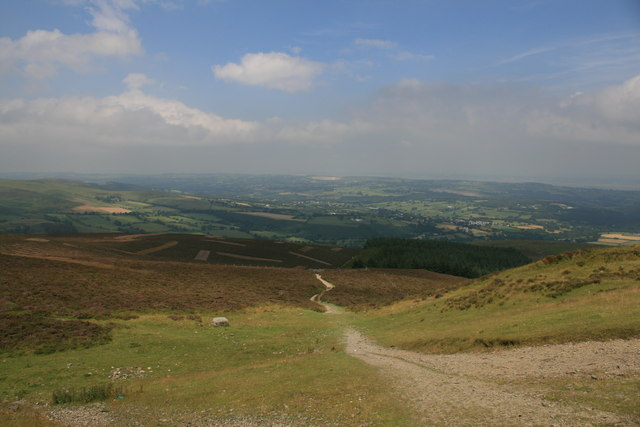 The Clwydian Way from Moel Famau - geograph.org.uk - 916810
