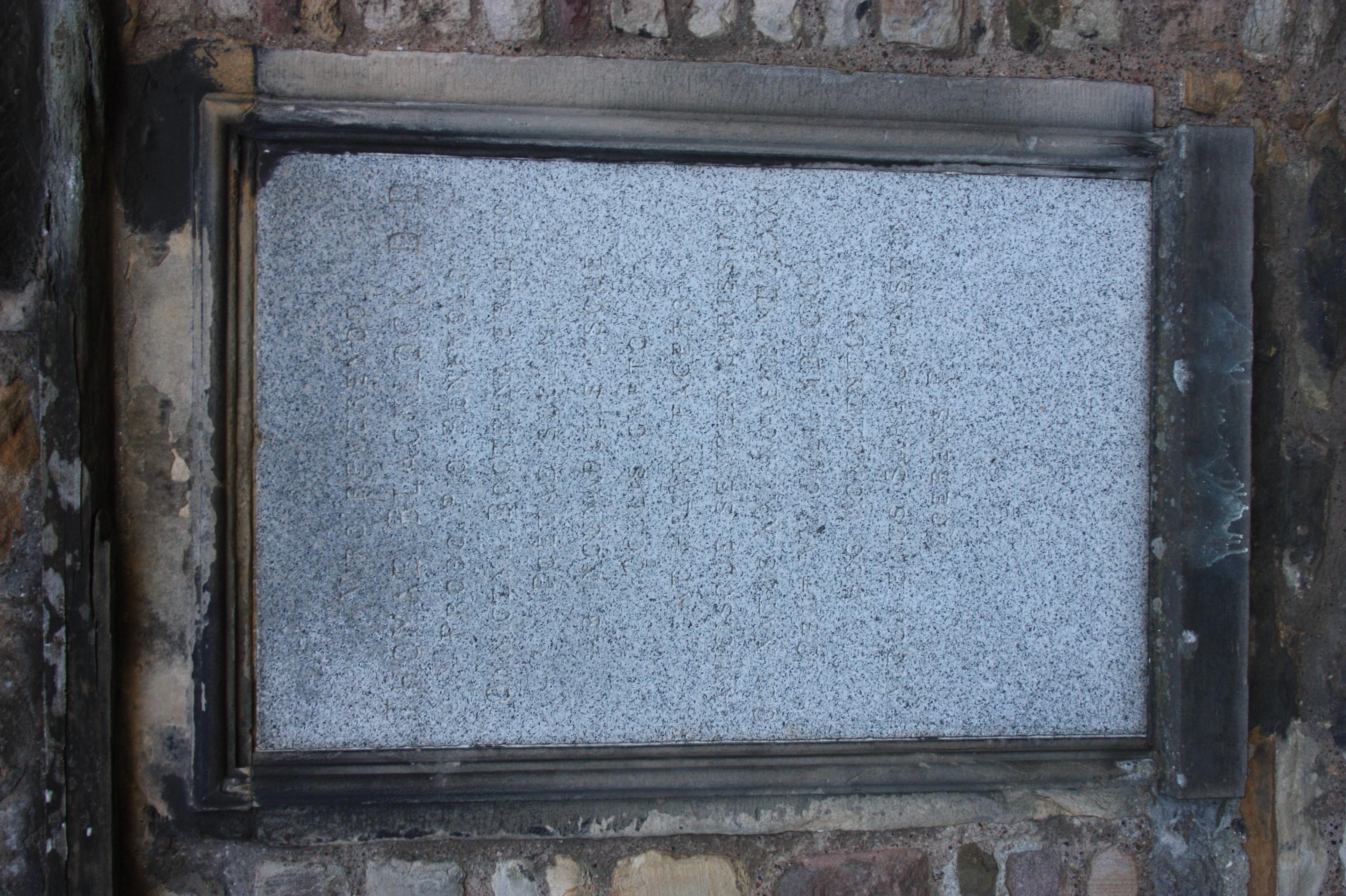 The grave of Rev Thomas Blacklock, Buccleuch Street