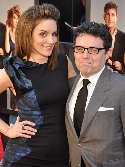 Tina Fey with cool, gracious, friendly, Husband Jeff Richmond
