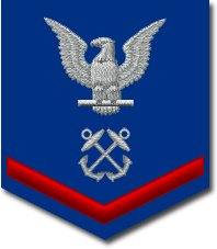US Coast Guard Petty Officer Third Class insignia