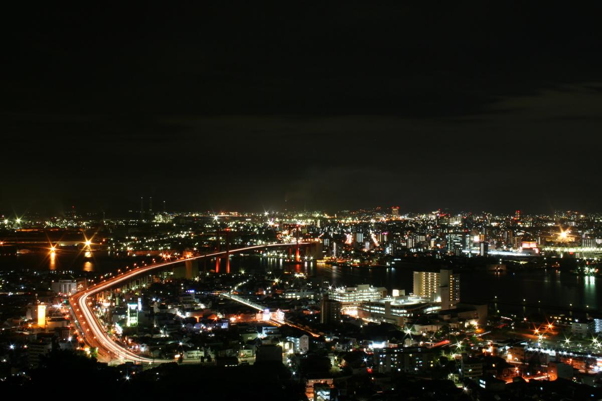 Kitakyushu Japan  City new picture : Wakato Bridge KitaKyushu Japan Wikipedia, the free ...