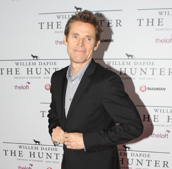 Dafoe at the premiere of ''[[The Hunter (2011 Australian film)|The Hunter]]'' in [[Sydney, Australia]], 2011
