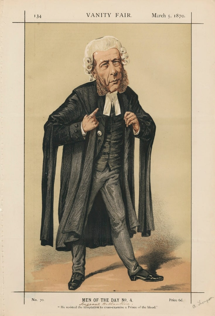Caricature of William Ballantine. Caption read...
