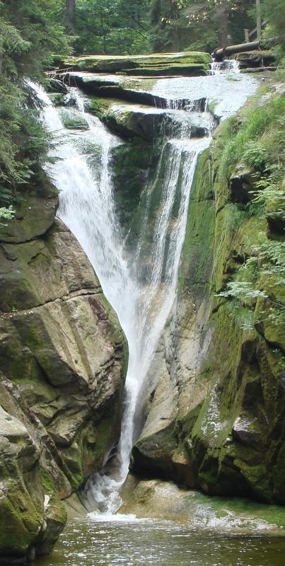 Wodospad Szklarki latem