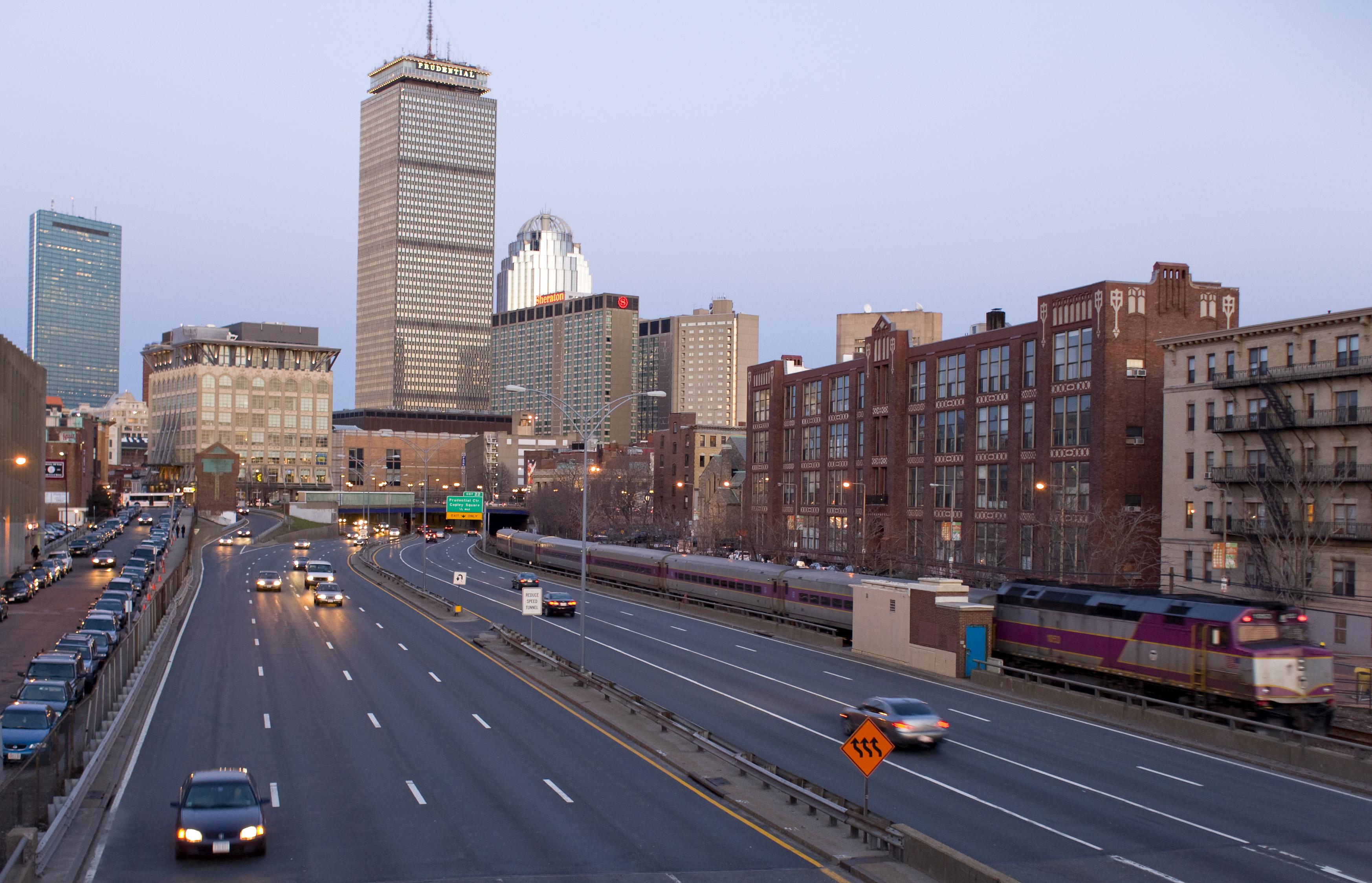 A description of the newbury street in downtown boston