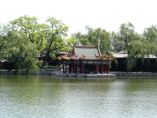 The Pavilion of the Water and Cloud, on the eastern bank of the Central Sea.