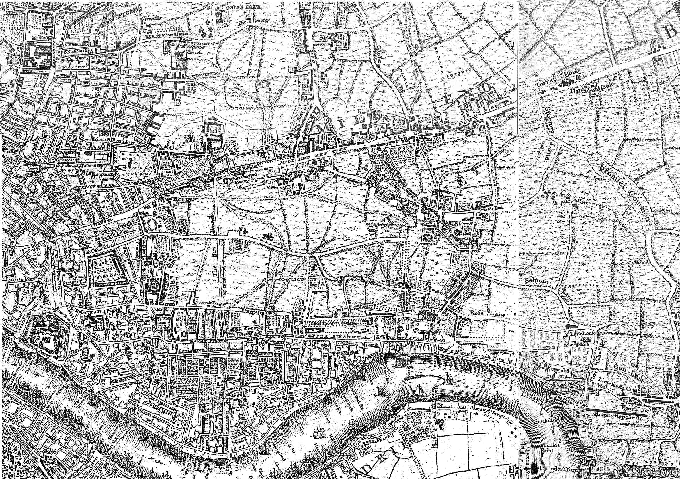 File1745 Roque Mapjpg Wikimedia Commons – Map of East London