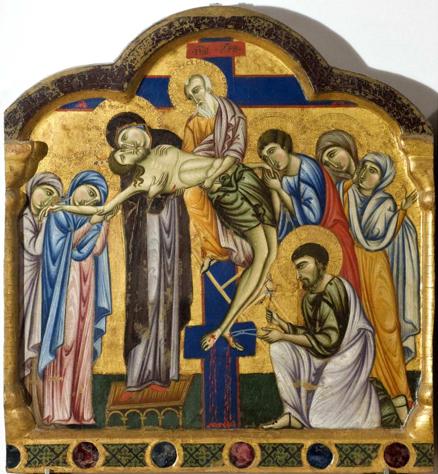 Master of Saint Francis, Double-sided Polyptych. Deposition. c.1272. National Gallery of Umbria, Perugia
