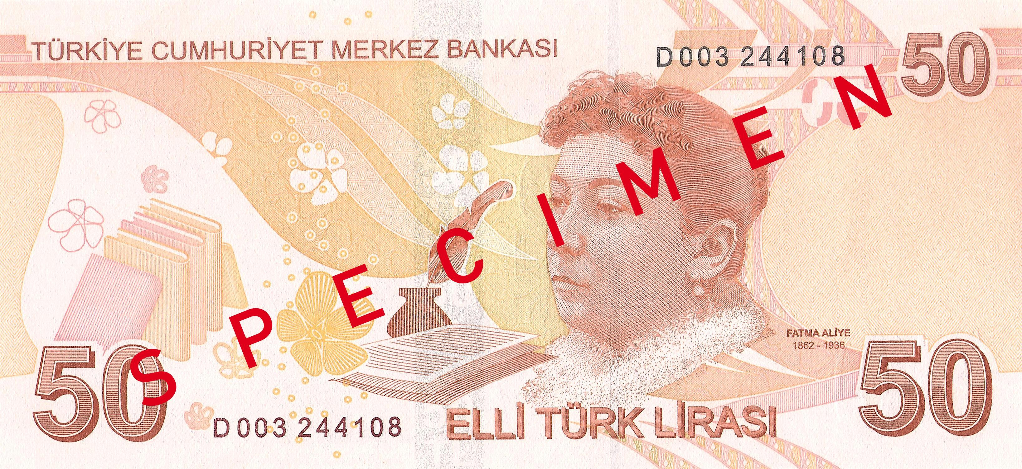 50 Türk Lirası reverse