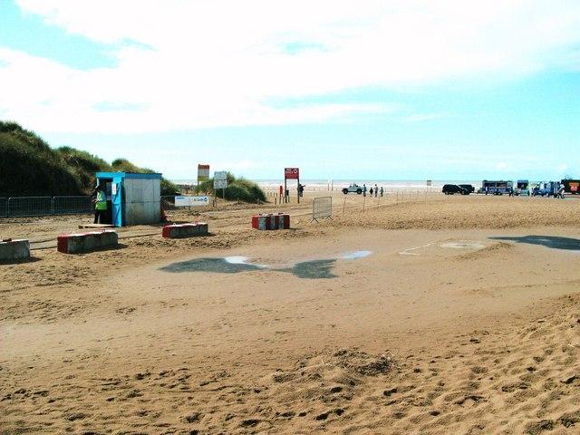 Ainsdale beach car park entrance - geograph.org.uk - 1464943