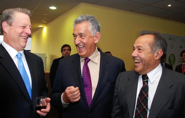 Al Gore, Alberto Rodríguez Saá y Adolfo Rodríguez Saá
