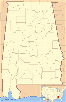 Location map USA Alabama
