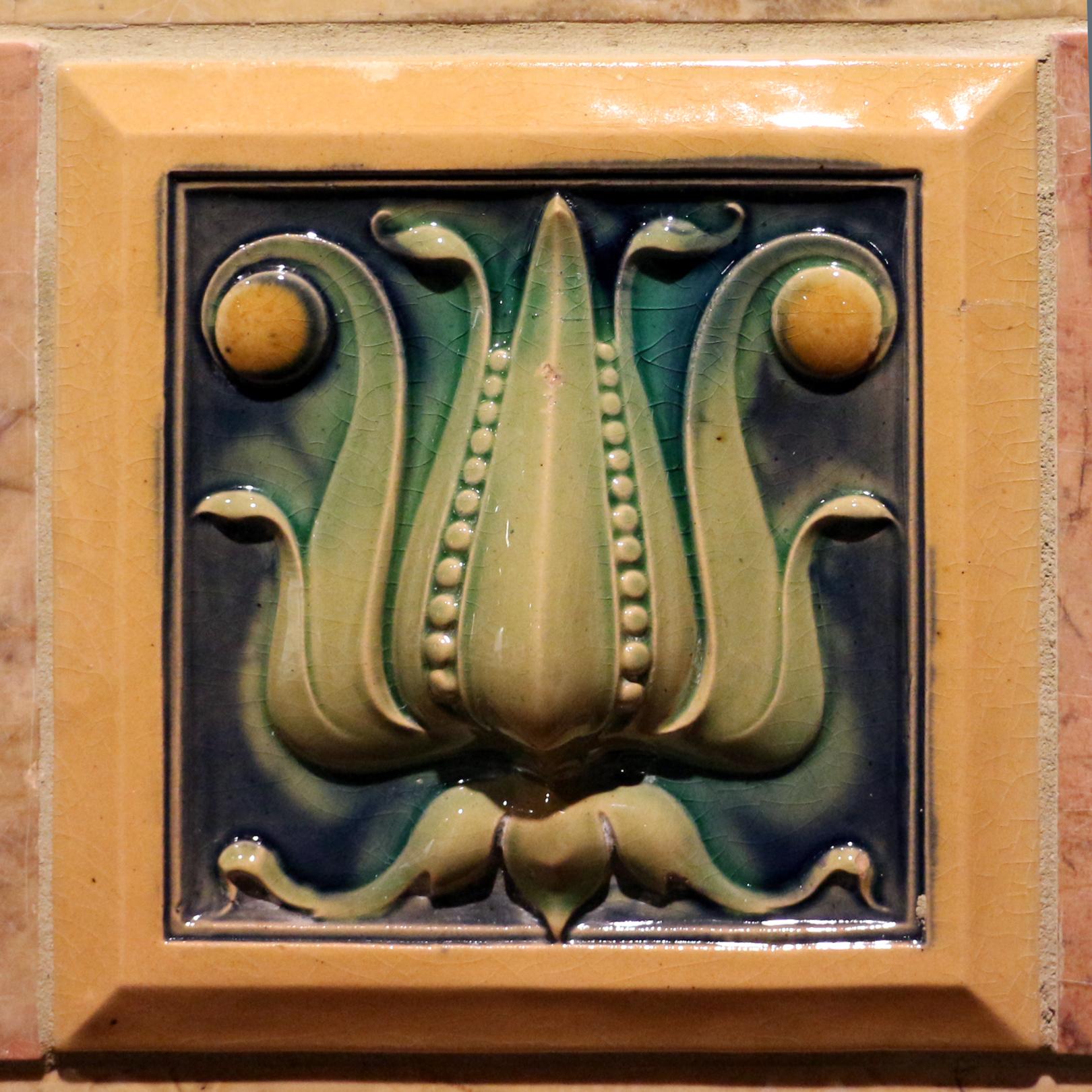 6 x 6 Persian Ceramic Art Tile in White Glaze