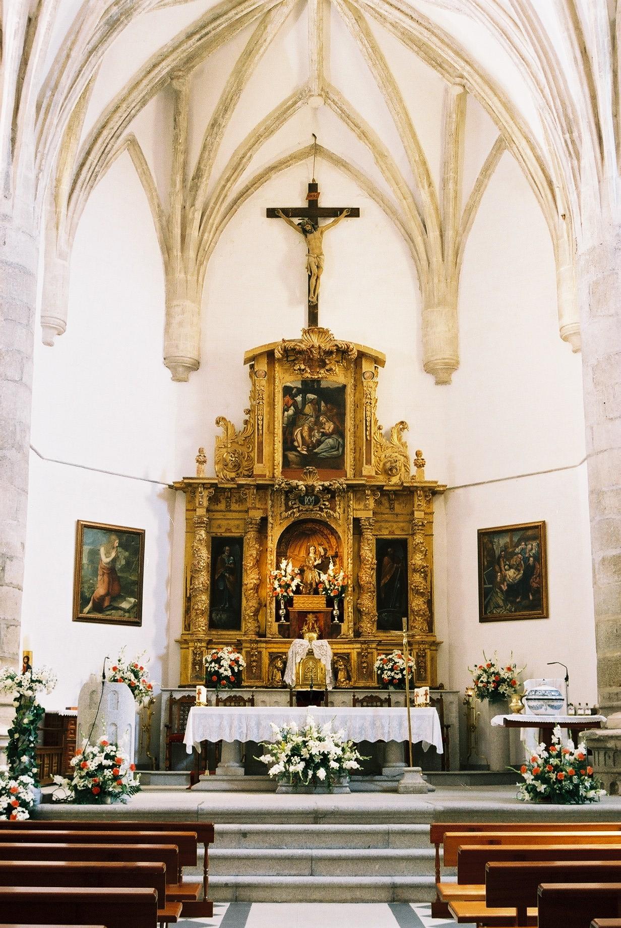 Decorar Altar De Iglesia ~ Description Altar mayor de la iglesia de Menasalbas jpg