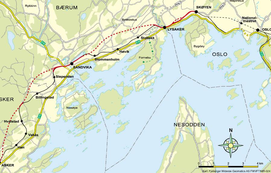 kart over asker og bærum Askerbanen – Wikipedia kart over asker og bærum