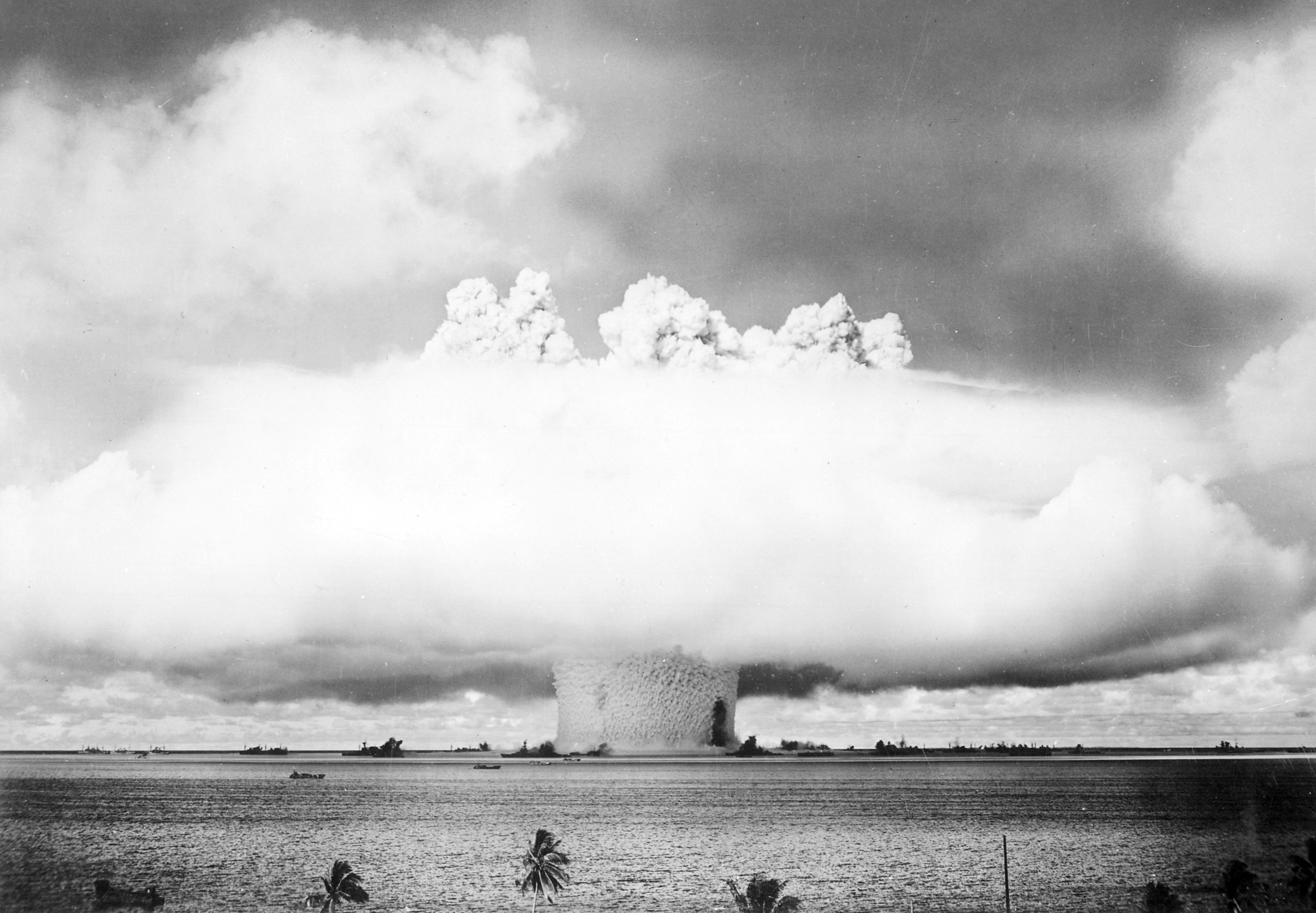 Bikini atoll test photo