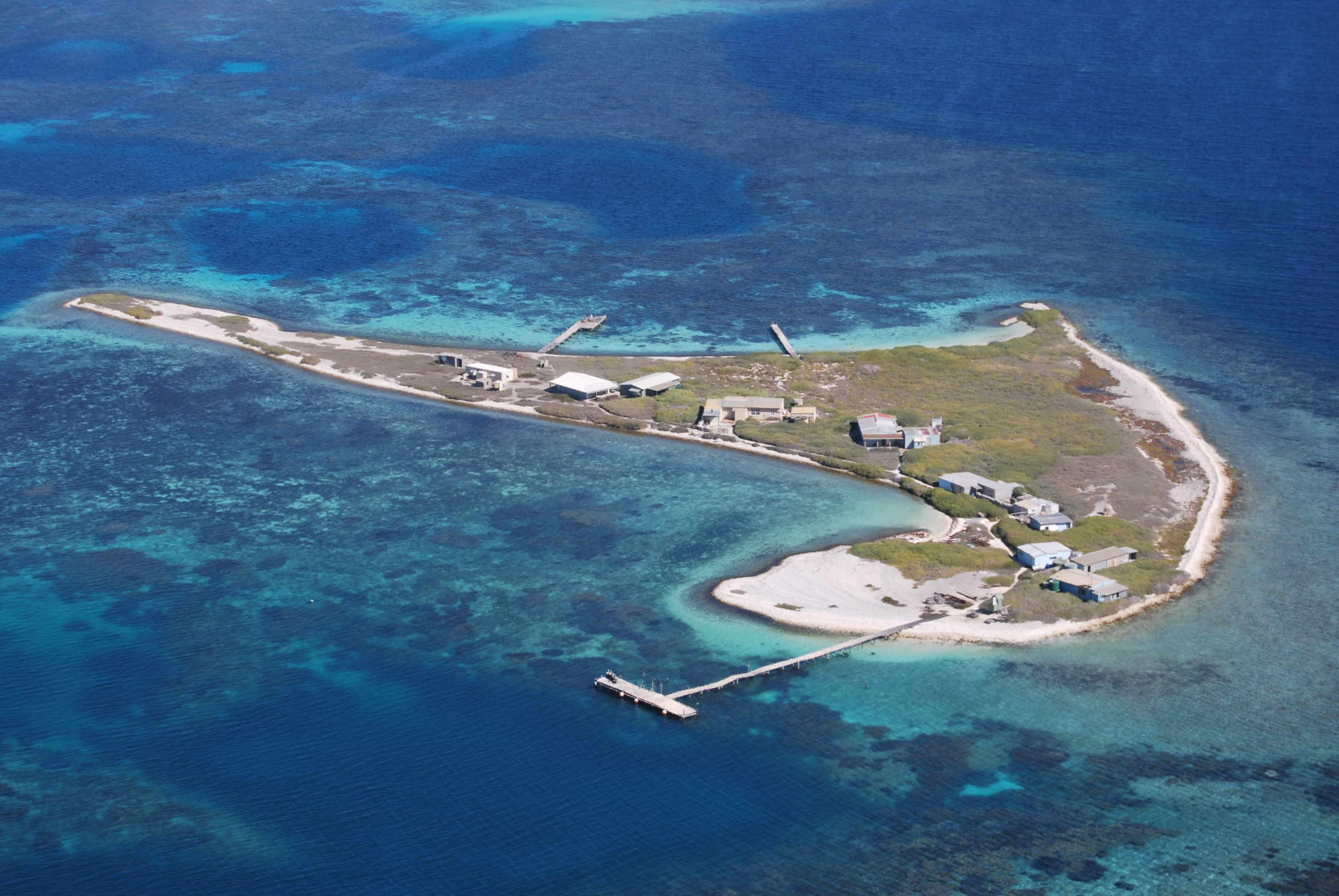 Beacon Island in the Wallabi Group, Abrolhos Islands, Western Australia, site of the Batavia mutiny