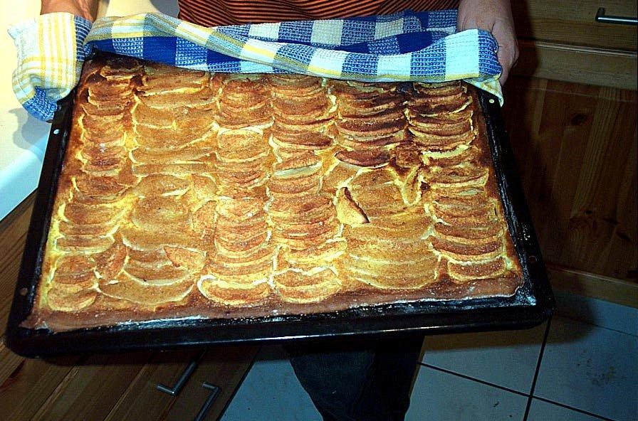 Schweizer flacher kuchen