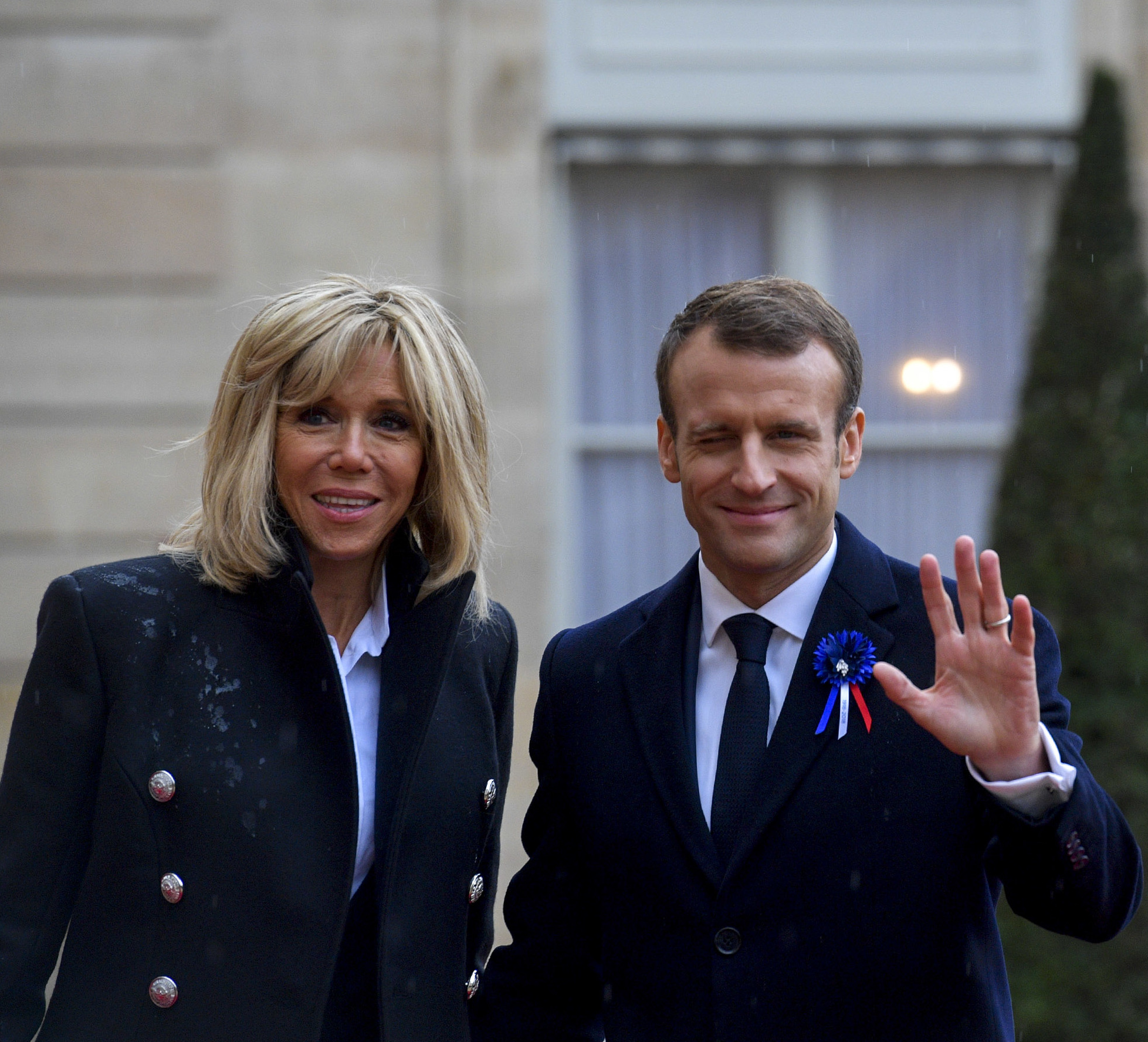 File Brigitte Macron And Emmanuel Macron November 2018 1541931666 Cropped Jpg Wikimedia Commons